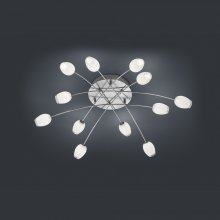 LED-Deckenleuchte Tulip Nickel-matt / chrom
