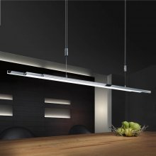 Pendelleuchte L-lightLINE Nickel-matt/Chrom
