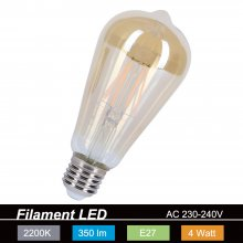 amberfarbene Filament LED E27 4W