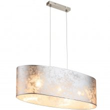Pendelleuchte Amy, oval, silber metallic