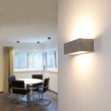 Up-and Downlight Korytko30 Gipswandleuchte in Beton-Optik