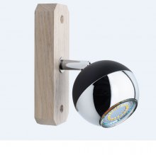 1er LED-Strahler Eiche Bianca Wood