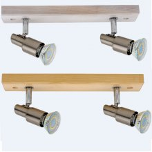 LED Strahler Classic Wood in  Eiche weiß oder natur 2fl.