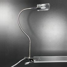 LED Klemmleuchte Loren in Nickel-matt / Chrom mit Flexarm