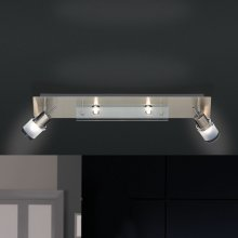 LED-Deckenleuchte Centura LED Nickel-matt, 4-flg