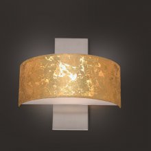 LED-Wandleuchte Gea Blattgold / Nickel