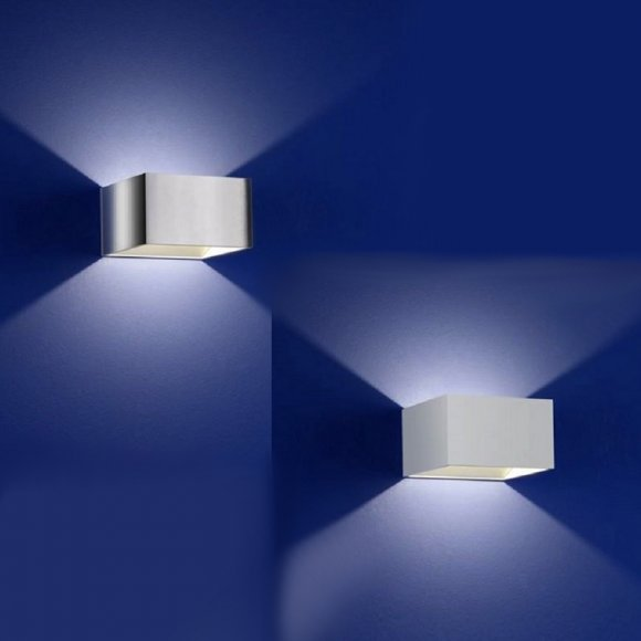 LED Wandleuchte Cube, Up & Down, In- & Outdoor, LED warmweiß, 2 Farben