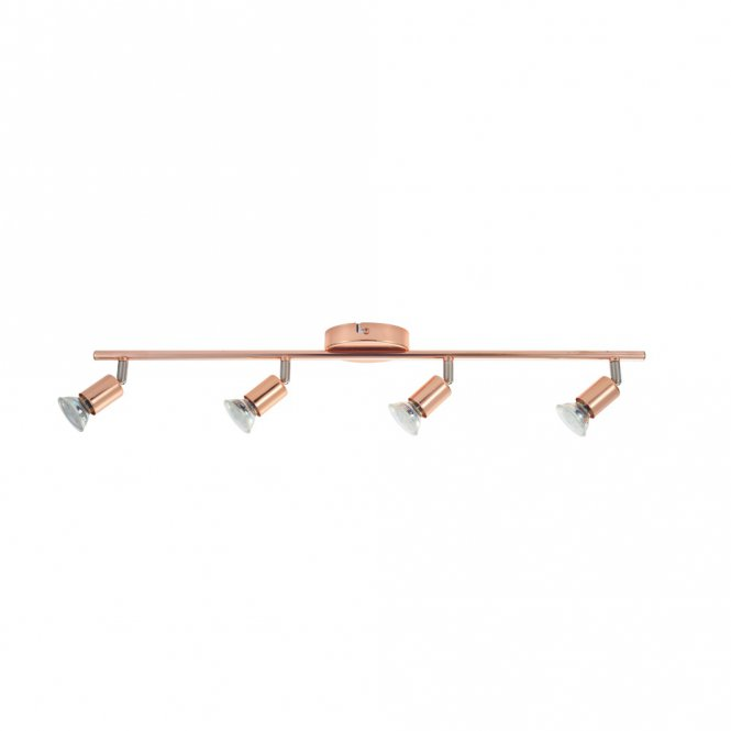 LED-Deckenleuchte Buzz-Copper in Kupfer, 4-flg.