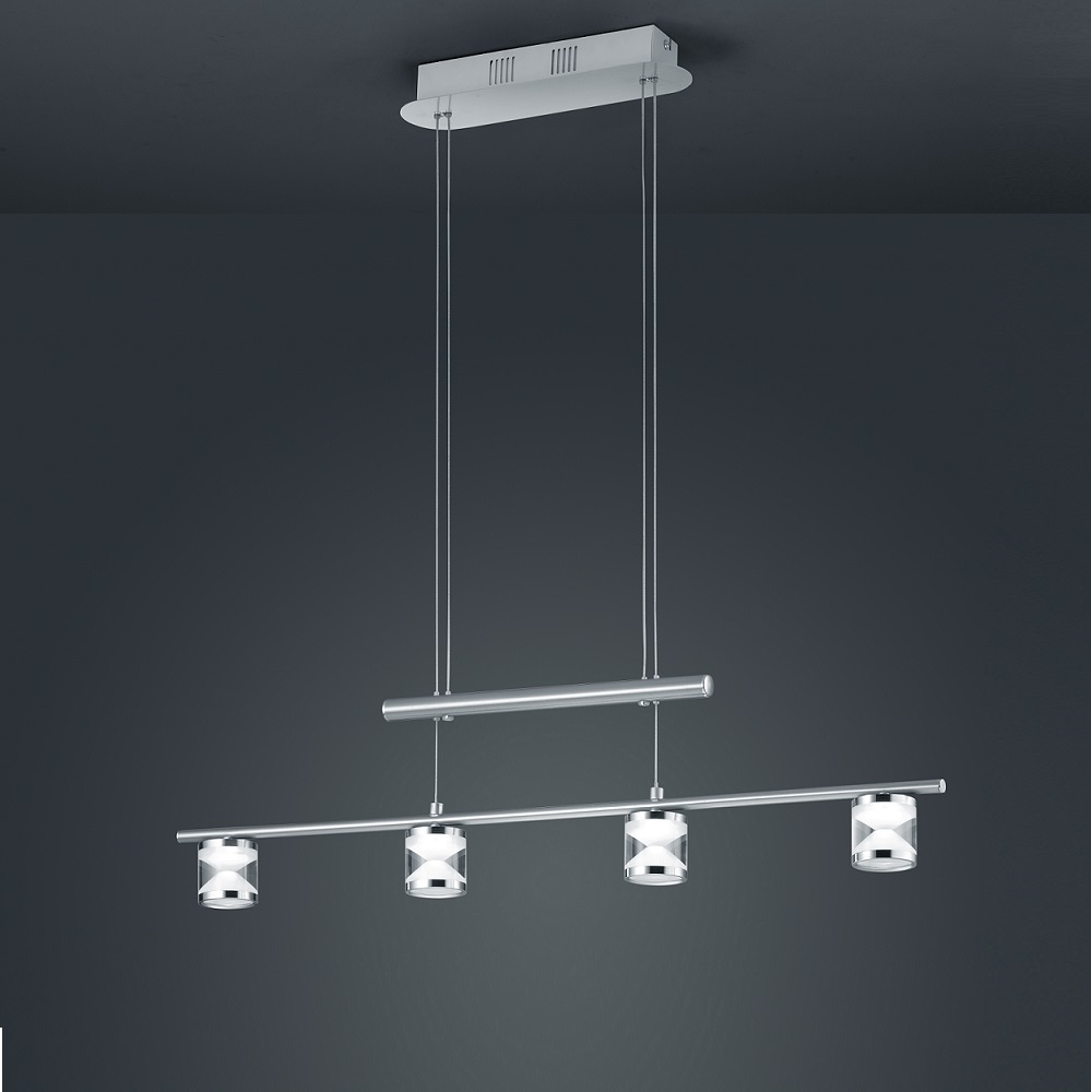 trio led pendelleuchte cassini h henverstellbar. Black Bedroom Furniture Sets. Home Design Ideas