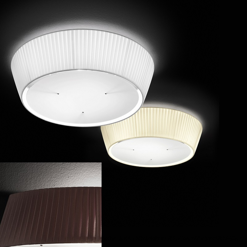 fabas deckenleuchte dorotea schirm plissee 60 cm 3 farbem. Black Bedroom Furniture Sets. Home Design Ideas